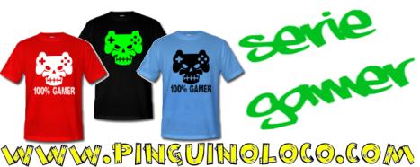 camisetas jugones gamers pinguinoloco