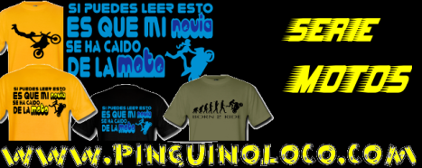 camisetas motos pinguinoloco